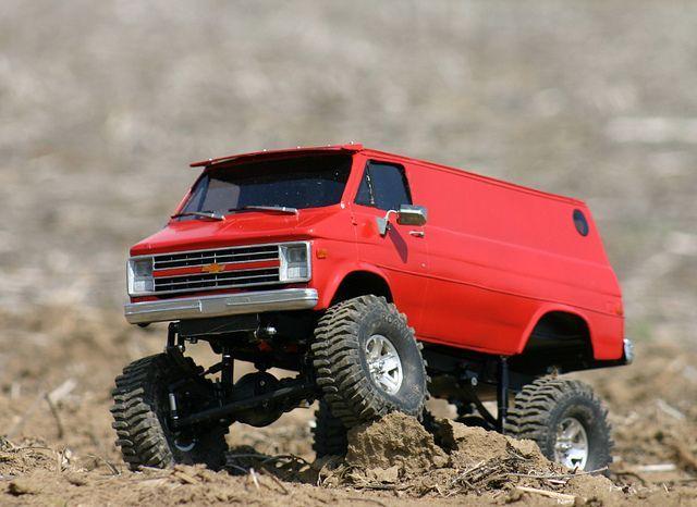 #rcxceleration #rccars cool Chevy 4x4 van scaler