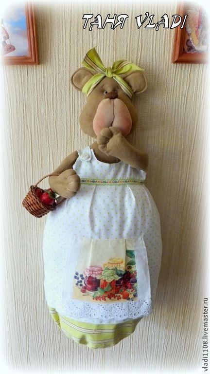 Купить Малиновое варенье (пакетница) - зеленый, медведица, варенье, ягоды, мешок, хранение, пакетница, Пижамница