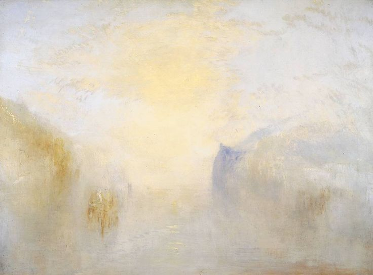 Joseph Mallord William Turner, Sunrise, with a Boat between Headlands, circa 1840-5