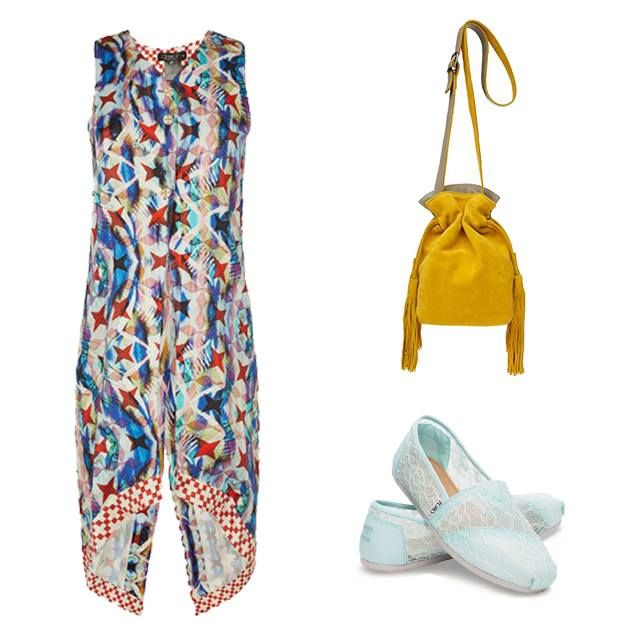 Shades of harmony! #OOTD. Gilet/Dress by Annie P. Leather Fringe Bag by Park House. Shoes by TOMS!   www.wecreateharmony.com