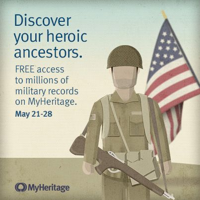 Memorial Day: Free access to US military records.   Memorial Day in the US  is May 27, and millions of Americans will remember the men and women who died while serving in the US Armed Forces.