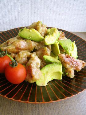 アボカド×鶏もも肉の塩だれバター炒め   http://cookpad.com/recipe/1742983