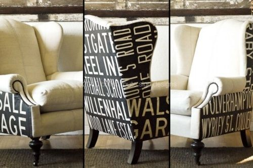 CoolVintage Signage, Subway Signs, Route Signs, Wings Chairs, Signs Design, British Route, Upholstered Chairs, Furniture, Old Signs