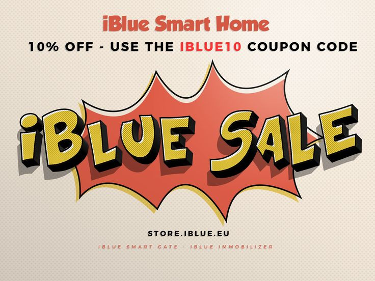 Buy Swiss made iBlue Smart Gate or iBlue Immobilizer smart home devices with 10% off! Use the IBLUE10 discount code for 10% off and free shipping: http://iblue.eu/iblue10