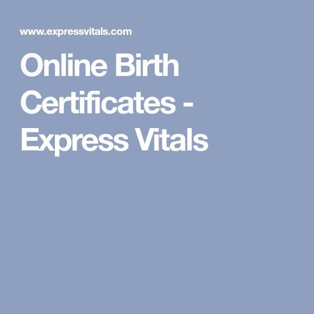 The  Best Birth Certificate Online Ideas On   Find