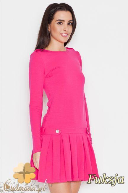 Sukienka kontrafałda mini marki Katrus.  #cudmoda #moda #ubrania #odzież #clothes #kleid #dresses