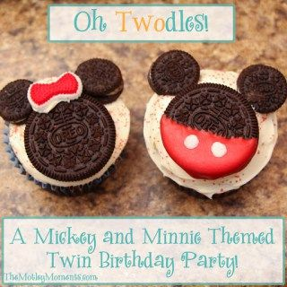 Believe it or not, the twins' birthday party has come and gone already. How is it possible that I have two 2 year olds?? *sigh…* We had an amazing day with these little cuties! And they LOVED all of the Mickey and Minnie things!  I had so much fun planning the party with Mimi!...