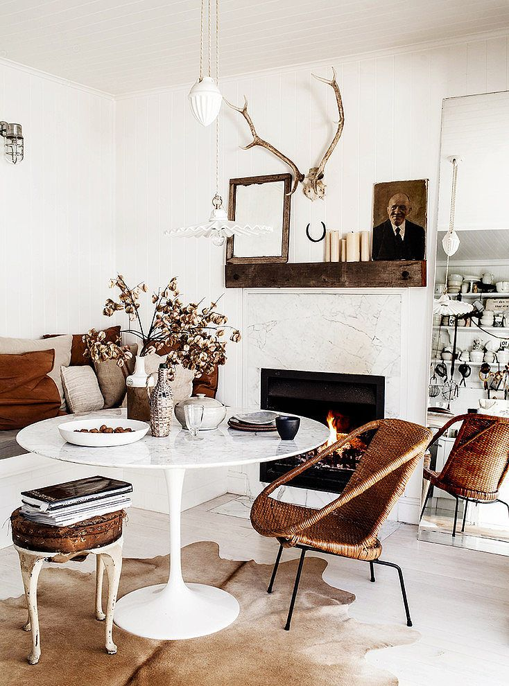 Best Images About Chaises Pour Table Saarinen On Pinterest Jute - Black marble tulip dining table