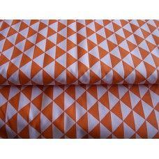 100% BAVLNA - trojúhelníky oranžové