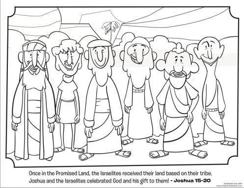 12 Tribes Coloring Page Bible