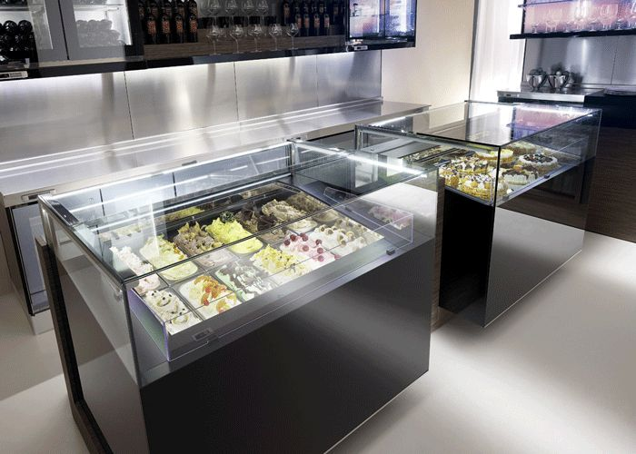 Quot Jewelry Quot Display Case Frozen Dessert And Pastry Display