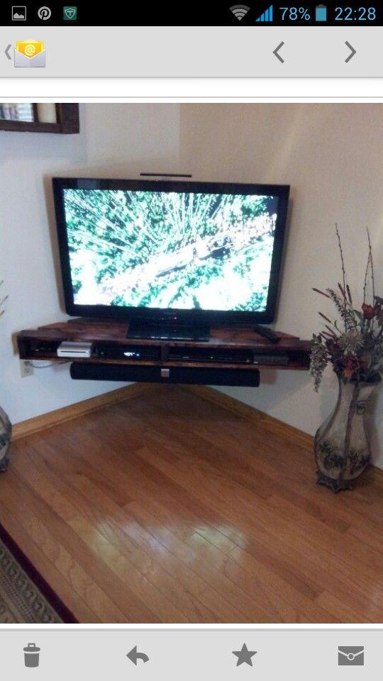 20 best diy corner tv stands images on pinterest island boy room and fire places. Black Bedroom Furniture Sets. Home Design Ideas