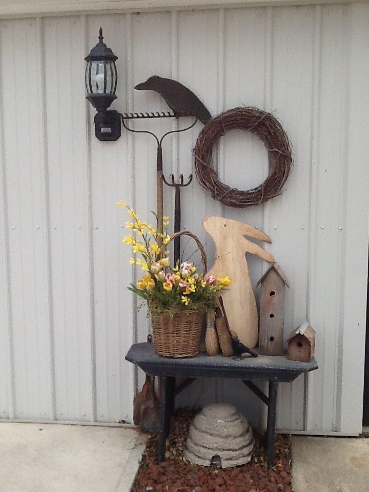 173 best Primitive Spring Decor images on Pinterest ...