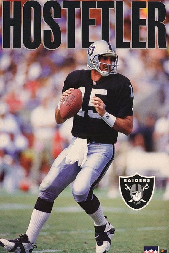 Jeff Hostetler Oakland Raiders 1993 Rare by VintagePosterPlace