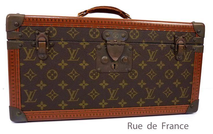 Vintage Louis Vuitton makeup / pharmacy case train travel trunk