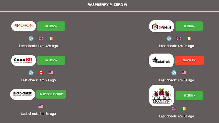 The Raspberry Pi Zero and its newest brother, the Raspberry Pi Zero W are notoriously hard to find in stores. To help with that, Pi Locator is a simple site that'll check stock across the globe.