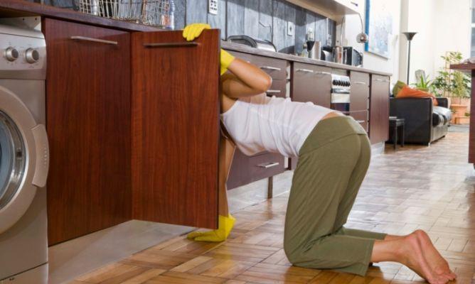 Limpiar y ordenar armarios de cocina