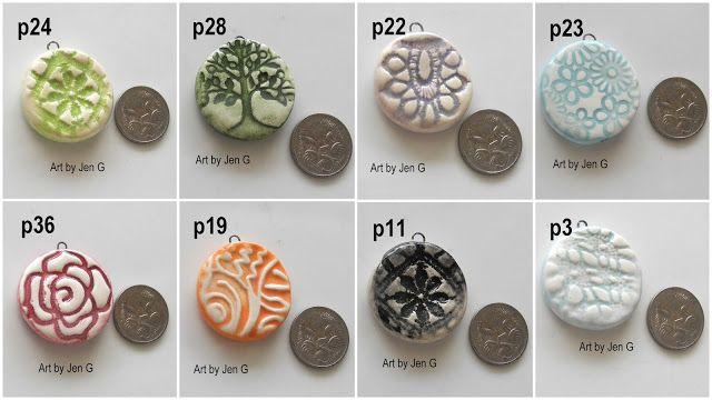 Handmade ceramic PENDANT beads.