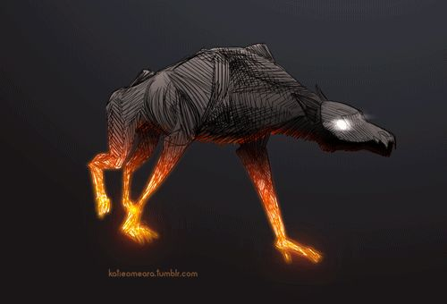 I've had werewolves on the mind lately.Animated in tvpaint, colours and effects in after effectsHere's a process video!