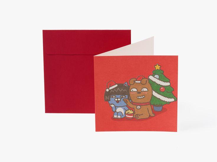 kakao friends christmas card | 2,000won | #ShopandBoxKorea #holidaycollection2016