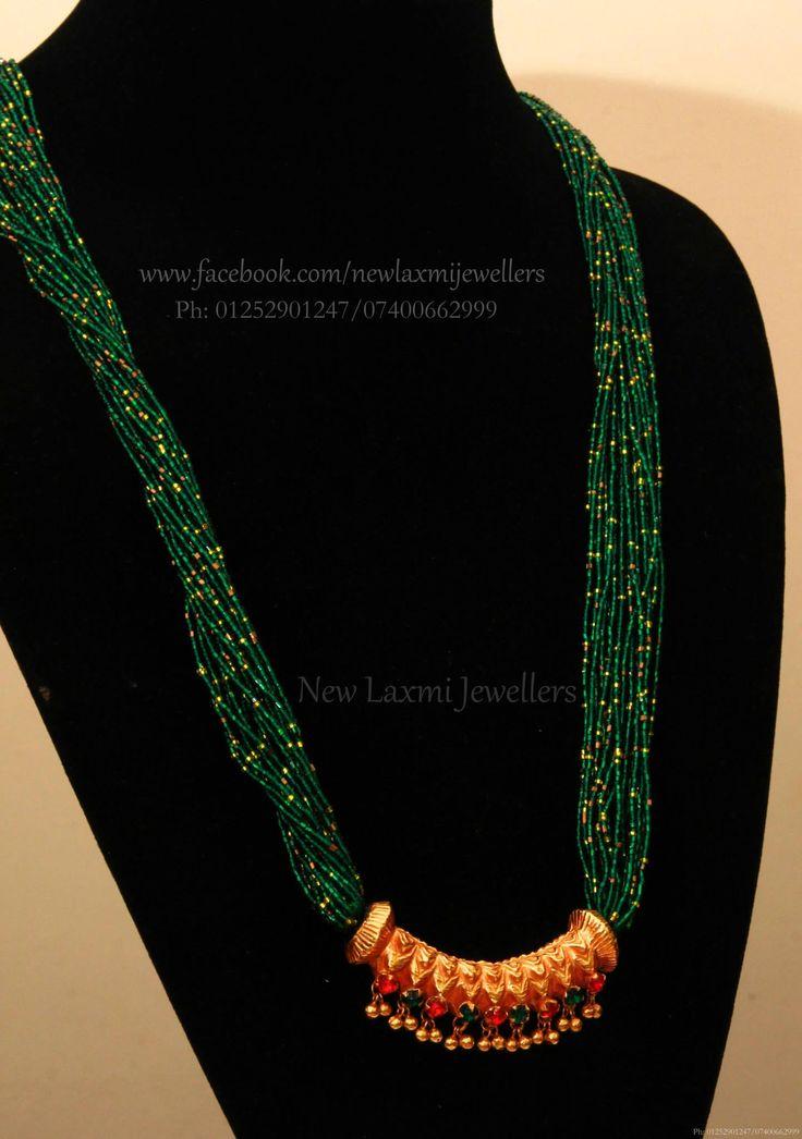 Multi coloured tilahari necklaces
