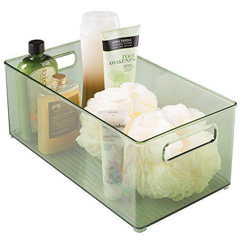InterDesign Linus Bath Health and Beauty Supplies Organizer Binz 8 x 6 Deep Bin, Sage InterDesign http://www.amazon.com/dp/B00UVCDKQI/ref=cm_sw_r_pi_dp_iq2Mwb1FBT2JF