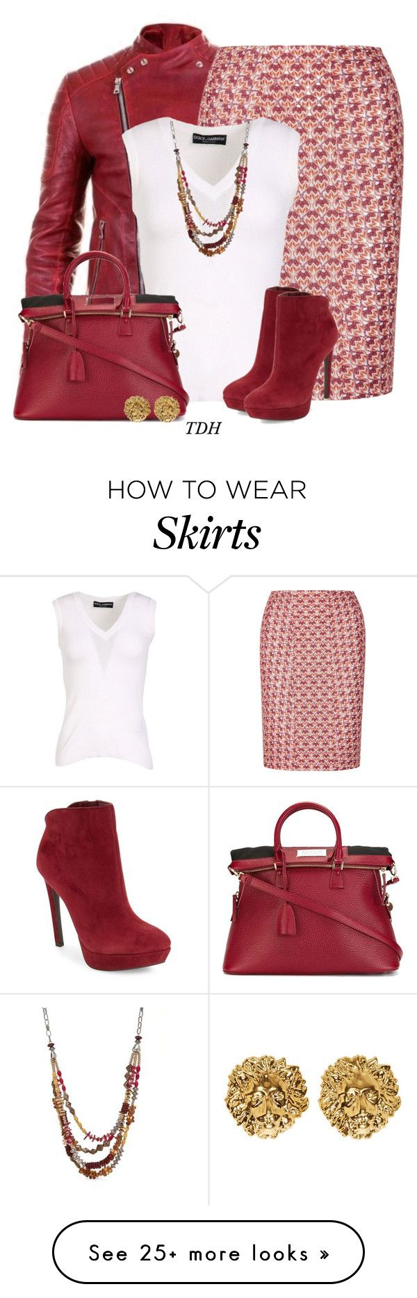 """""""Missoni Knit Skirt"""" by talvadh on Polyvore featuring Balmain, Missoni, Dolce&Gabbana, Ruby Rd., Jessica Simpson, Maison Margiela and Versus"""