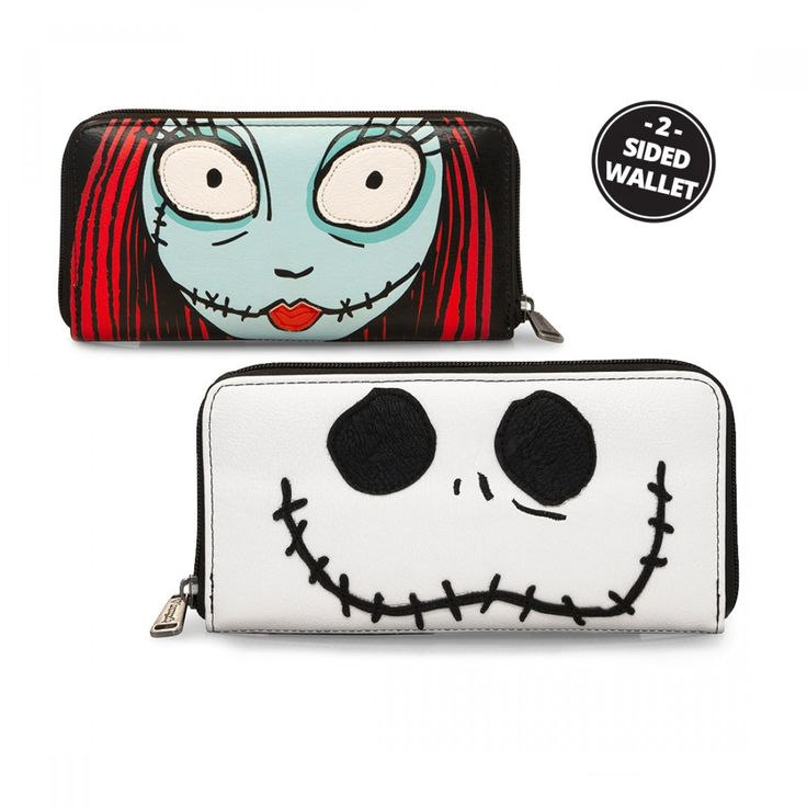 Loungefly x Nightmare Before Christmas Jack/Sally 2-Sided Wallet - Tim Burton's The Nightmare Before Christmas  - Collections