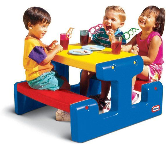 Buy Little Tikes Junior Picnic Table Primary at Argos.co.uk, visit Argos.co.uk to shop online for Children's outdoor furniture, Outdoor toys, Toys