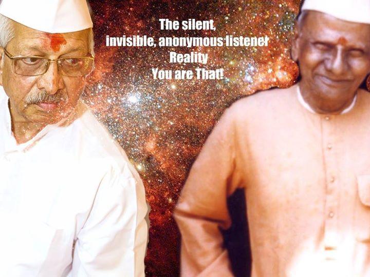"""Nisargadatta és Ramakant Maharaj """"A csendes, láthatatlan, ismeretlen hallgató Valóság-Az vagy Te"""""""