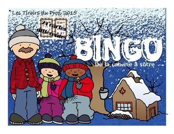 Voici un jeu de Bingo comprenant 24 cartes de jeu, toutes uniques, 36 cartes-clair et une carte contrle.Vous n'aurez qu' imprimer, dcouper, plastifier et vous amuser avec vos lves.Thme : CABANE  SUCREMots illustrs : cabane  sucre, sirop d'rable, rablire, acriculteur, tire d'rable, beurre d'rable etc.
