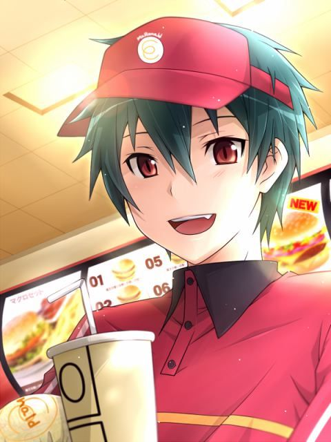 Maou - The Devil is a Part-Timer. Well I am pleasantly surprised and attracted.