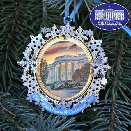 §§§ . The 2009 White House Christmas Ornament for Grover Cleveland. In 1895 Cleveland became the first President to use electric lights on a White House Christmas tree.