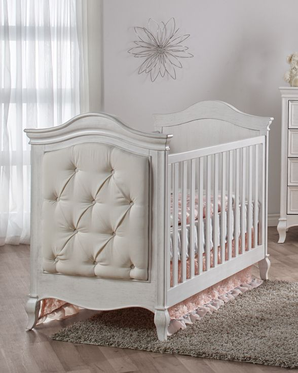 Pali Diamante Classic White Baby Girl Crib   Upholstered Crib Converts To A  Toddler Bed Or Full Sized Bed When Appropriate. Perfect For Your Beautiful  Baby ...