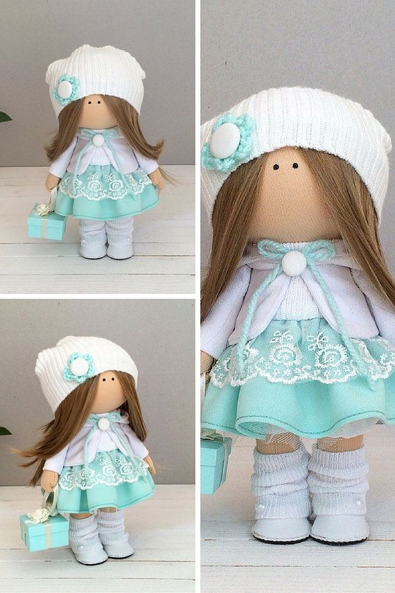 Textile doll handmade Tilda doll Interior by AnnKirillartPlace