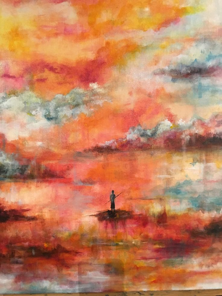 """""""Journey"""" by Katy Hands Art. Katy's been creating for over a year so that she can come home to Hereford for her first exhibition of her paintings.  Opens 27th August"""