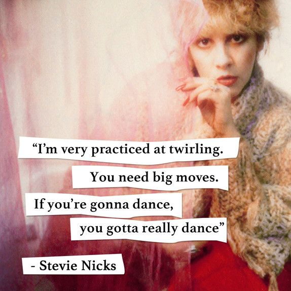 Today I'm Channelling Stevie Nicks                                                                                                                                                      More