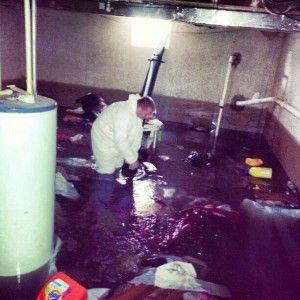 water damage repair - basement flood cleanup