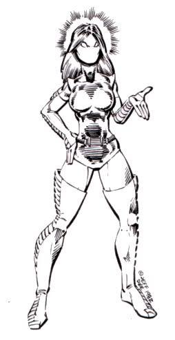 "Dreamweaver from Jeff Dee's Crusaders (""Villains & Vigilantes"")"