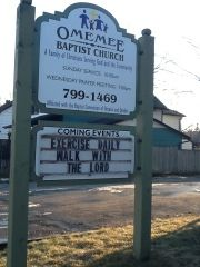 Think your small village doesn't have news? Look for inspiration Omemee Pigeon eFlyer: Church Gives Daily Exercise Tip!