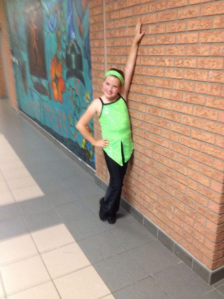 At my dance rehearsal