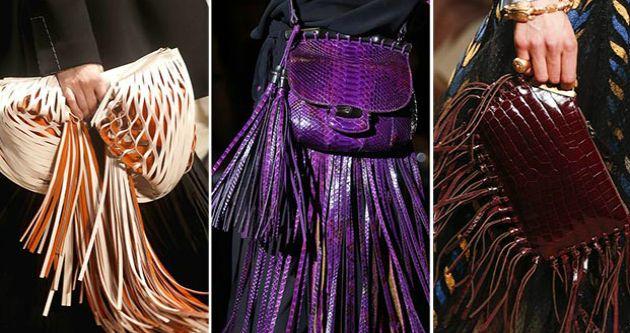 Плетеная сумка господствует в летнем сезоне вместе с изделиями из бахромы. Конечно, и сумки с бахромой и плетенки отсылают нас к моде #хиппи. Собственно, так оно и есть, #дизайнеры активно ностальгируют по 1970-м. #лето2015 #тренды #стиль #мода