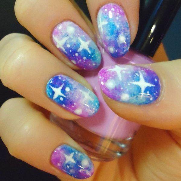 50 wunderschöne Galaxy Nail Art Designs und Anleitungen Weitere Informationen finden Sie unter https://wikihow365.com/fashio …