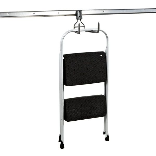 Hook it up with elfa utility Wide Ladder Hook to keep your ladder easily accessible and out of risk of falling!