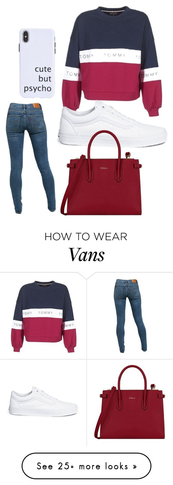 """cute but psycho"" by jaeherring14 on Polyvore featuring Tommy Hilfiger, Levi's, Vans and Furla"
