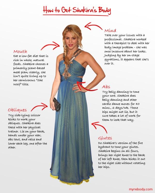 How to get Shakira's bodyShakira Workout, Lifestyle Fit ...