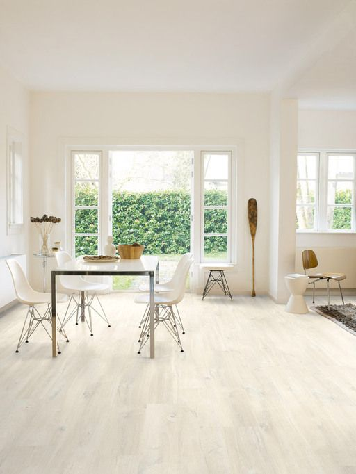 QuickStep Creo Charlotte Oak White Laminate Flooring 7 Mm Laminates