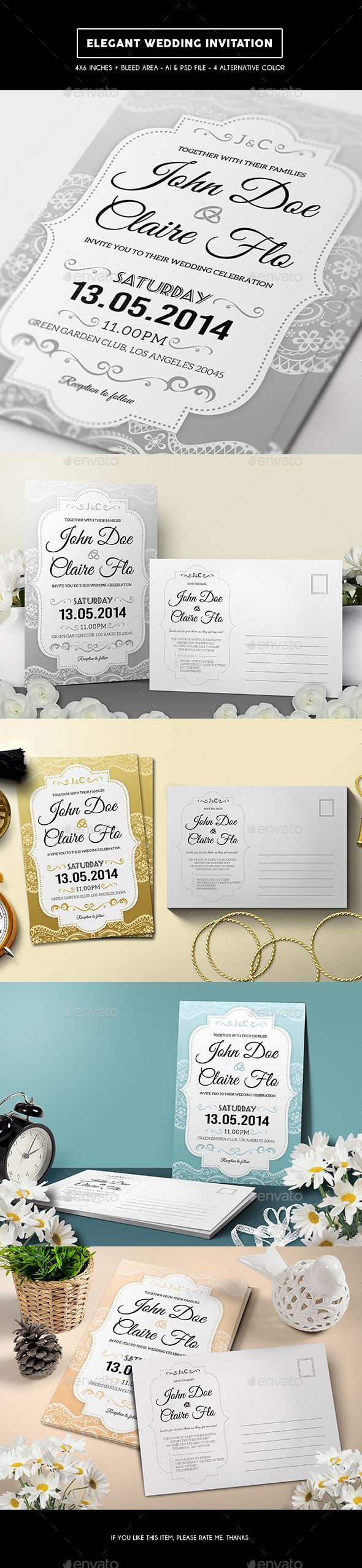 card invitation template design wedding invitation software Elegant Wedding Invitation