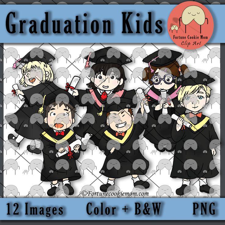 Clip Art| Graduation| End of Year| http://fortunecookiemom.com/product/graduation-clip-art/