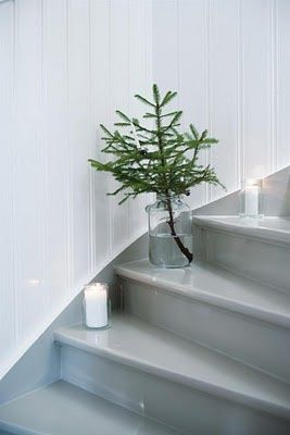 I love the idea of little trees all over the house. #stylerunnersecretsanta